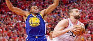 NBA Playoff Action Warriors vs Raptors
