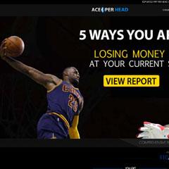 Screenshot of the Ace Per Head website.