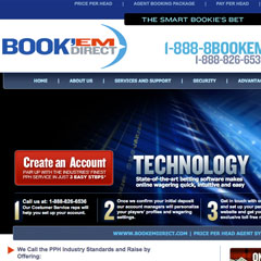Screenshot of the Book'em Direct web site.
