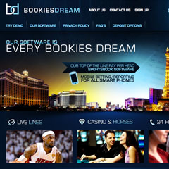 Screenshot of the Bookies Dream website.