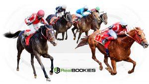 Horses with their jockeys