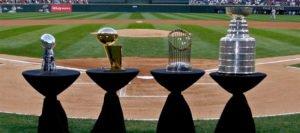 4 Major Sports' Trophies