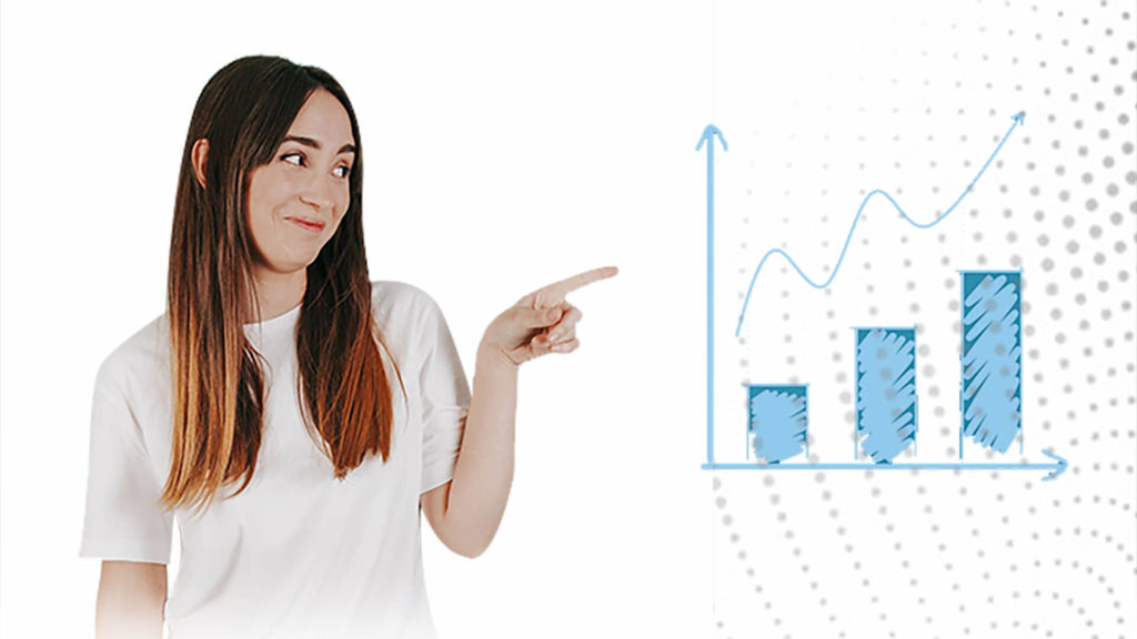Girl pointing at a chart
